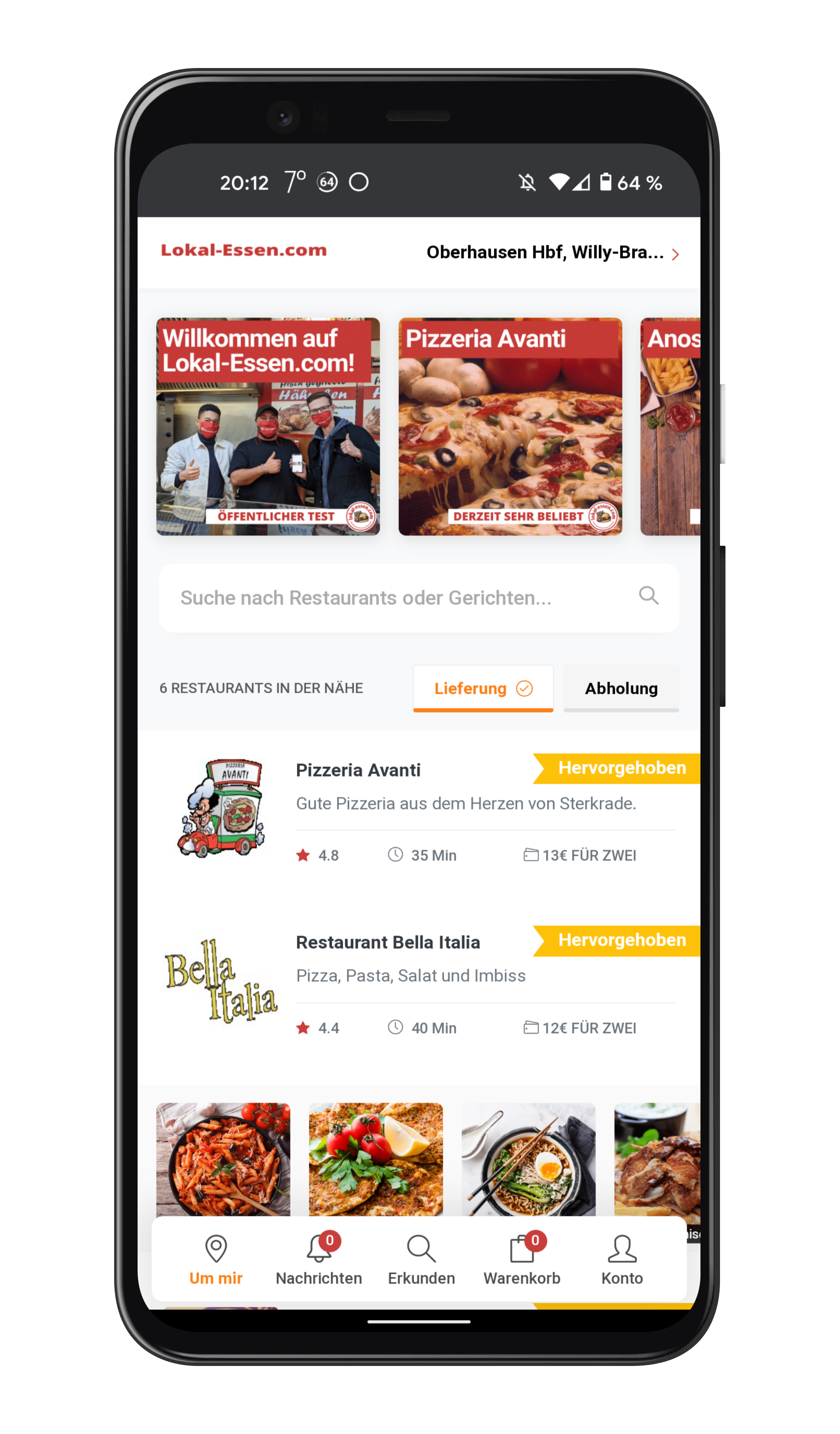 Essen bestellen, aber fair. Lokal-Essen.com